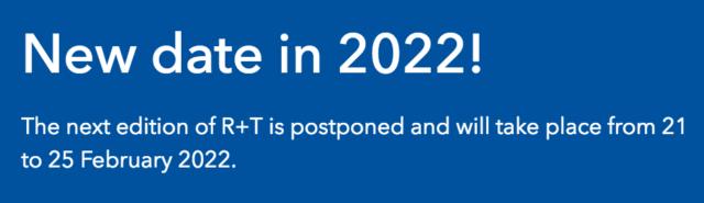 r+t 2021 reporté en 2022