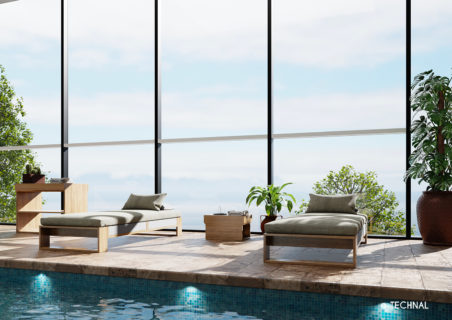 technal façade tental piscine
